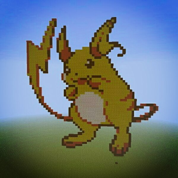 Lexi Doll On Twitter Raichu Pixel Art Minecraft Pokemon Raichu