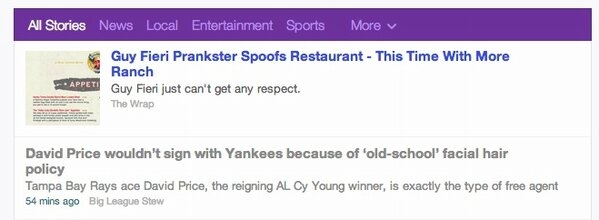 I just checked out Yahoo's new front page design and there was @mikeoz's post pretty much front and center! #SoCool http://t.co/6UfFdh63