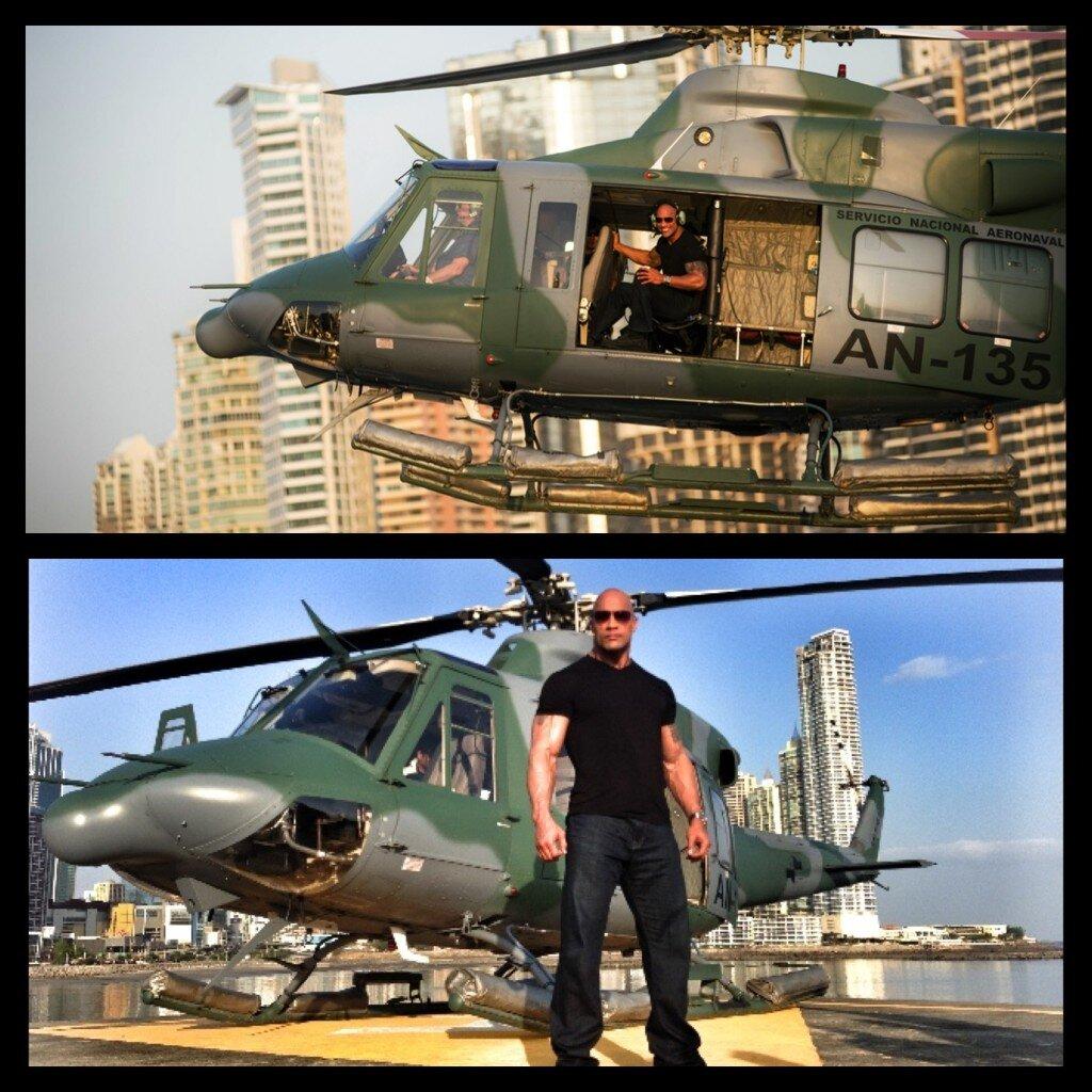 "Imagen: The Rock grabando ""The Hero"" en Panamá 1"