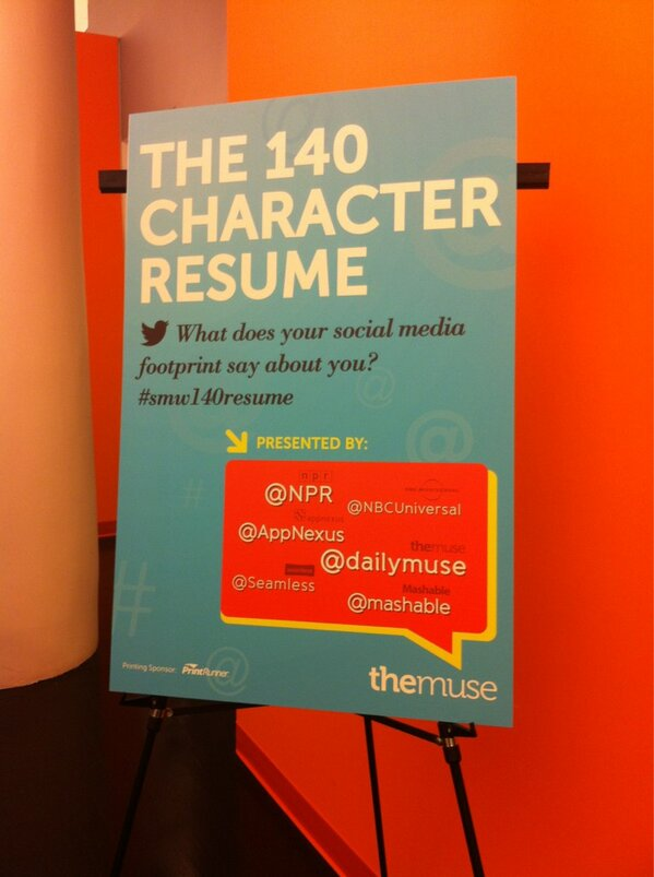 RT @dailymuse: Setting up! :) RT @tinabs: #smw140resume #smwnyc http://pic.twitter.com/AdJcYHnuVh