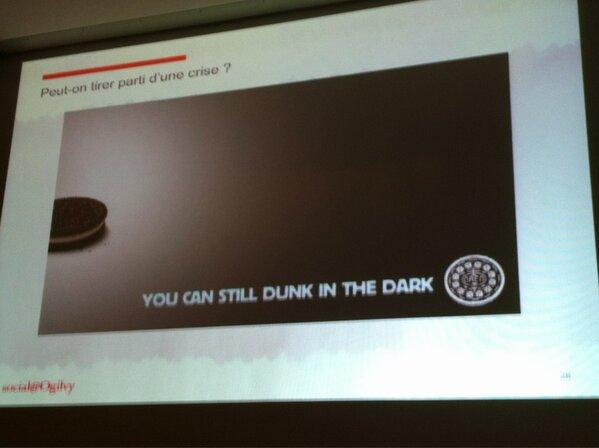 #smwcom Peut on tirer parti d'une crise. Via la coupure d'électricité du superbowl http://pic.twitter.com/55B4ahsReG