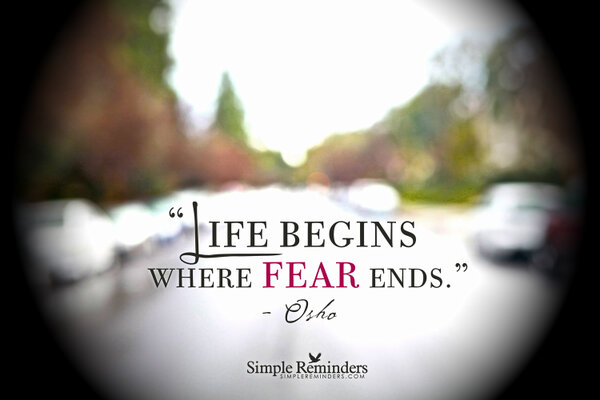 Jenni Young Mcgill On Twitter Life Begins Where Fear Ends