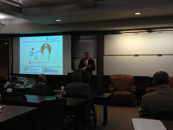 Dean Gilligan of @UTexasMcCombs and @UTexasMBA opens the 2013 #McCombsMktConf ! http://pic.twitter.com/rGGi8ATQYt