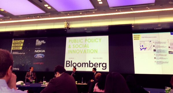 The #NYC team is at Bloomberg for Public Policy & Social Innovation w. @MattSegneri @pjfiorenza @cheeky_geeky #SMWBBG http://pic.twitter.com/LCc3TdQyAo