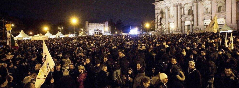Grillo a Piazza del Popolo