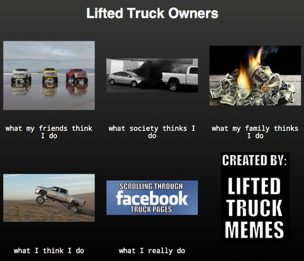 Lifted Truck Memes On Twitter Lifted Truck Memes Meme Chevy