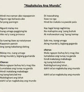 nagkakulay ang mundo lyrics