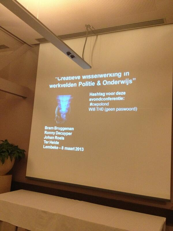 @Dirkdeboe @brambruggeman @johanroels we zijn er klaar voor! Avondconferentie #cwpolond http://pic.twitter.com/U3XHMK1Hm2