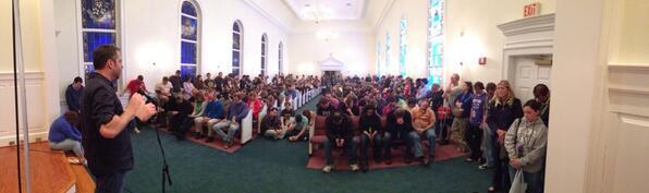 Twitter / mikework: Several hundred leaders gather ...