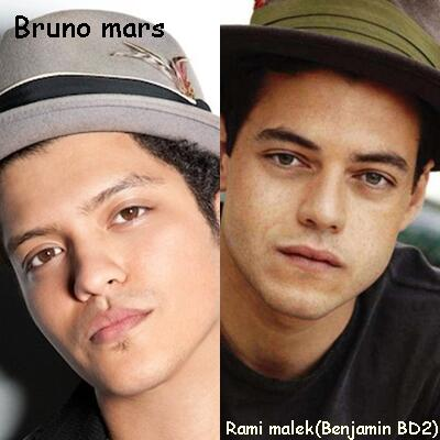 "not using anymore on Twitter: ""(izda. a dcha.) Bruno Mars ..."