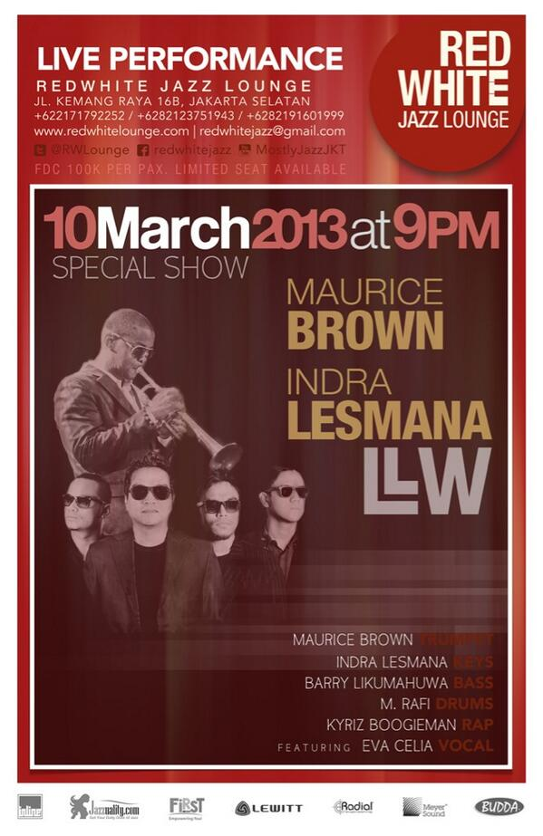 we have a show tomorrow, Sunday March 10 9PM with Maurice Brown & Eva Celia at the @RWLounge http://t.co/MnEukebZT6
