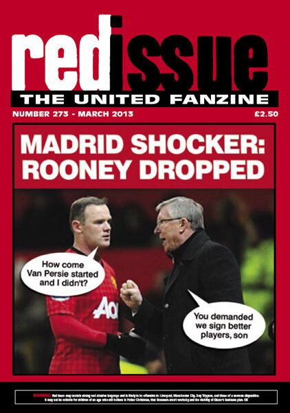 LOLZ picture: Red Issues front cover on Ferguson dropping Rooney