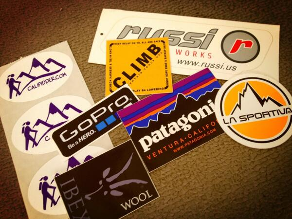 Twitter / TheSoCalHiker: Stickers! Thanks to @calipidder ...