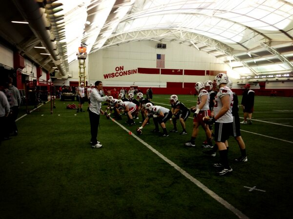 Won't be tweeting during practice but one last photo to give you a feel for the 2013 #Badgers http://pic.twitter.com/5HmzxH5o7M