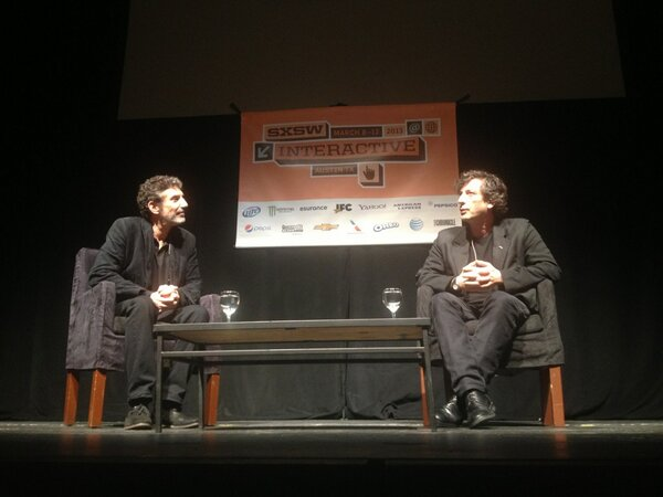 Front row at Chuck Lorre and @neilhimself convo! And hi @amandapalmer!! http://pic.twitter.com/iyahfGczVj