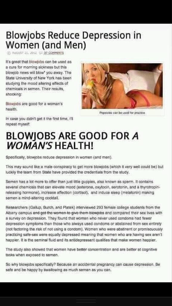 Blow jobs bad for you