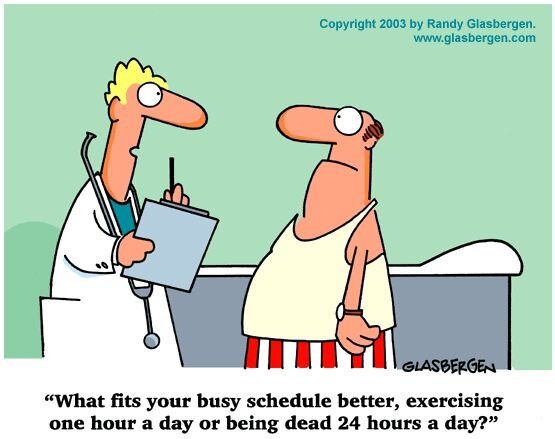 Saw this before we went running! Uhhh, the hour of exercising! Thanks Randy Glasbergen for the humor. #running http://t.co/bogriu71nL