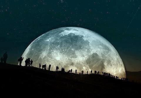 super luna / o perigeo  BEDp3YtCcAEOR4u