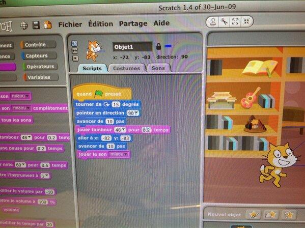Exemple de script Scratch
