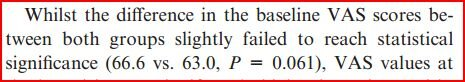 "Failed, but only slightly: ""slightly failed to reach statistical significance (p=0.061)"" http://pic.twitter.com/IcVGpiqFyK #stillnotsignificant"
