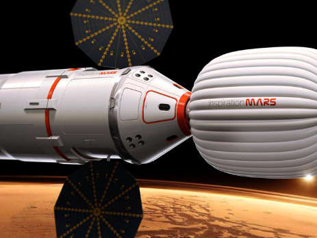 Unsurprised that #InspirationMars' main crew capsule is a dead ringer for Apollo CSM! http://pic.twitter.com/d1GocKCW80