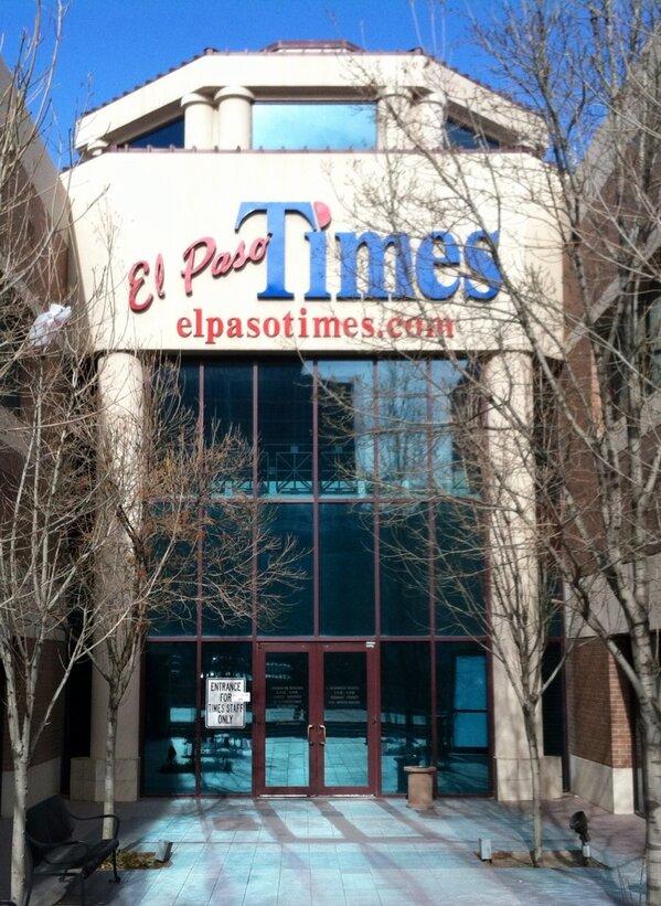 Adios El Paso Times, hello 500 W. Overland. http://pic.twitter.com/8ZamKoT7Vo