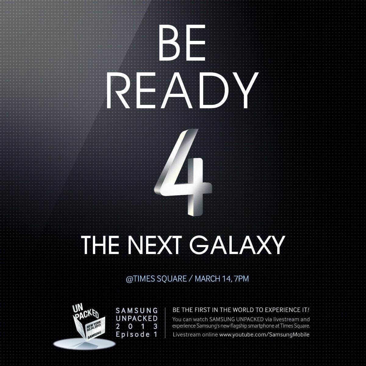 Samsung teases public event in Times Square for the Galaxy S IV launch