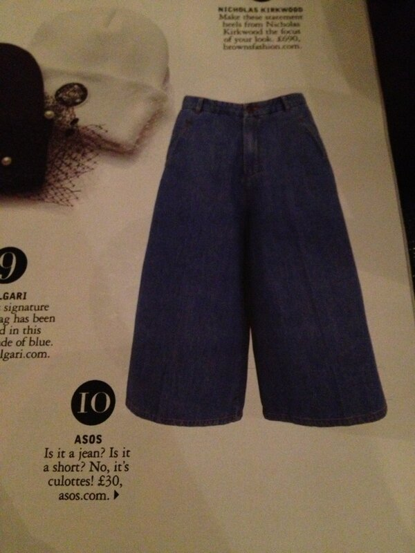 Even though they are denim, I can tell you right now, that I won't be embracing the culotte. #beentherein80s http://t.co/YZG7Ys5cDj