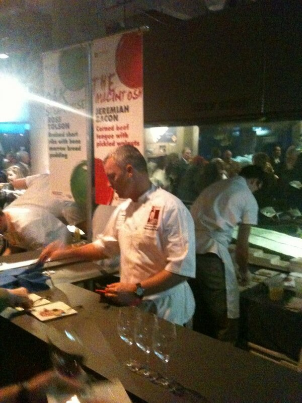 @MacintoshCHS Jeremiah whipping up some corned beef tongue with pickled walnuts #chswff http://pic.twitter.com/ykcp2hcvQc