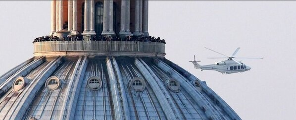 Pope helicopter at St Peter's