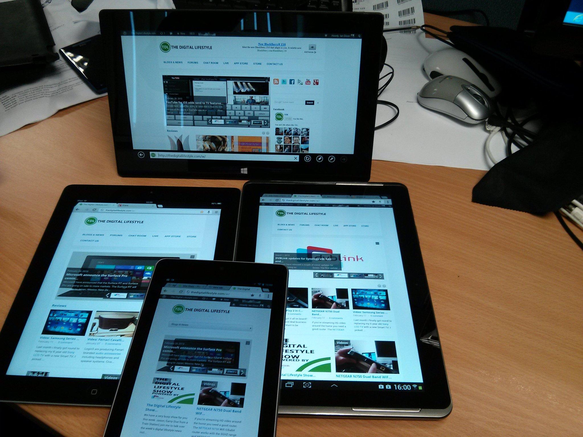 iPad, Nexus,Samsung,Surface