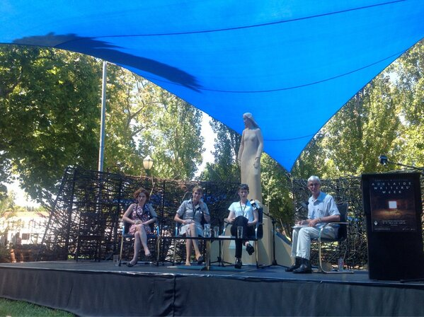 Nicholas Jose just introducing LK Holt, @josephinerowe & @writesfiona. Poetry readings coming first #adlWW http://pic.twitter.com/ksbjzahQwA