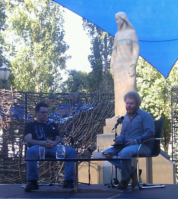 Our facilitator, Nick Prescott begins by introducing Adrian McKinty. #AdlWW http://pic.twitter.com/PDryp4KnPm