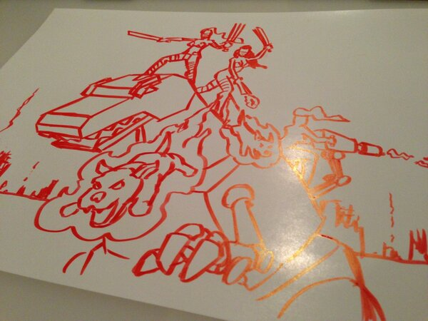 Twitter / FAKEGRIMLOCK: ME FIND BACONMINJA DRAWING ...