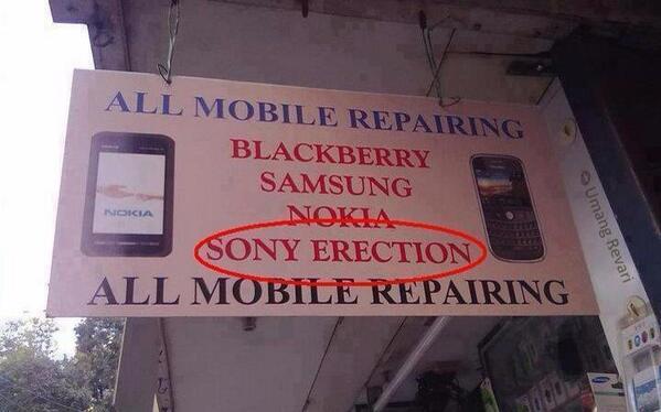 Twitter / JoyAndLife: Sony whaaaat? #BadEnglish ...