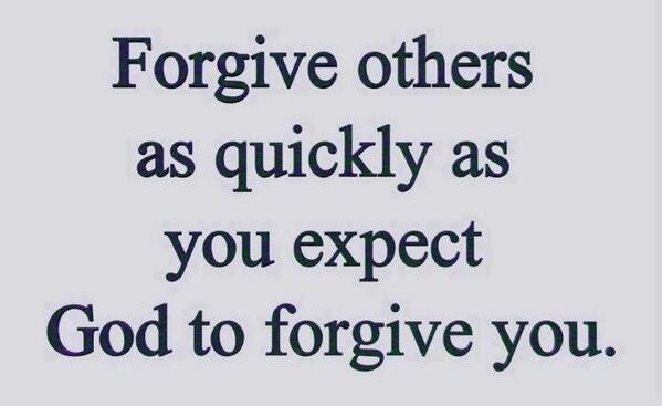 Twitter / JoyAndLife: Forgive others as quickly as ...
