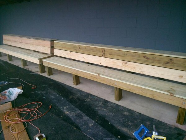 Amazing Sidney Athletics On Twitter Dugout Benches T Co Ocoug Best Dining Table And Chair Ideas Images Ocougorg