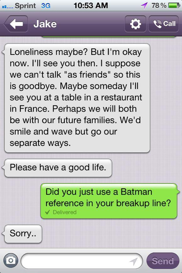 Best break up therapy ever