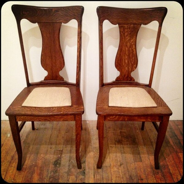 colleen ford white on quot rt tiger oak dining chairs with burlap seats for sale