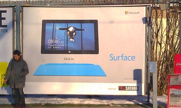 Surface-Werbung am S-Bahnhof, März 2013