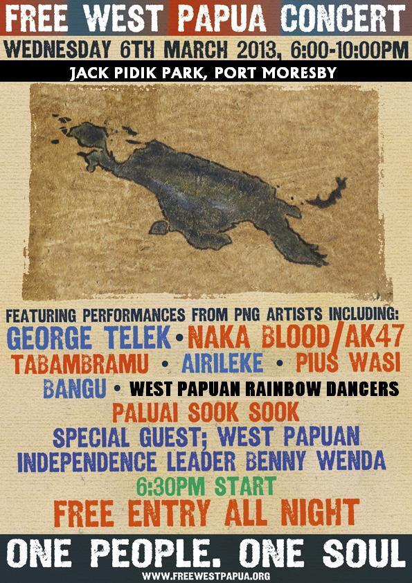 Twitter / FreeWestPapua: Large outdoor music concert ...