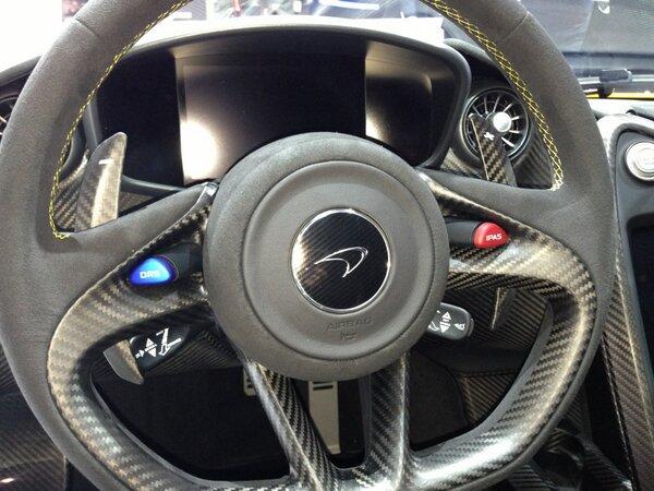 Chris Harris On Twitter Mac P1 Steering Wheel Has Gorgeous Matt Blue Drs Achingly Cool Http T Co 1tvofwwzzt