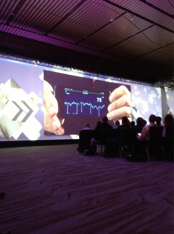 The world of #tech is amazing. RT @ThePatientsSide: @EricTopol gets his EKG live on stage using iPhone. HOT #HIMSS13 http://pic.twitter.com/8fcAoPkk77