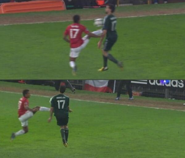 Wheres the consistency? Nani got sent off for Man United, Martinez was only booked for Bayern