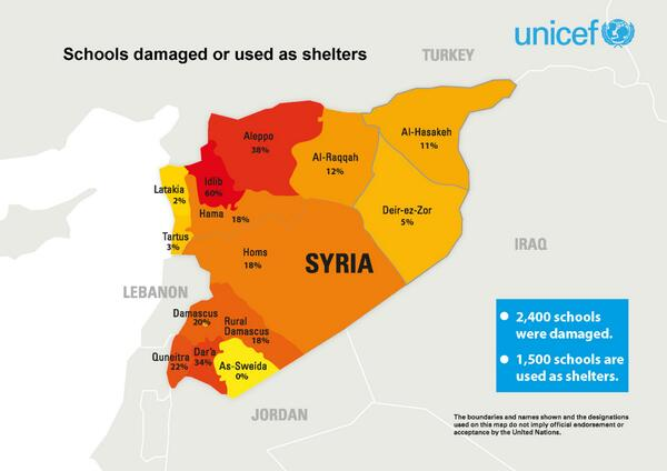 Twitter / UNICEF: INFOGRAPHIC: Schools damaged ...