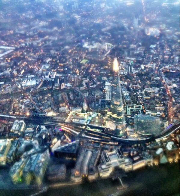 Twitter / Corporate_Edge: Great angle of the Shard, flying ...