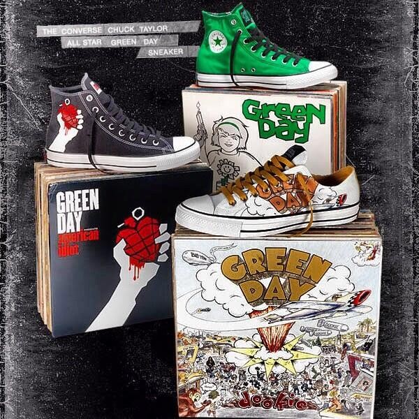eab45a845cf2 The Converse Chuck Taylor All Star Green Day Sneakers - Pursuit Of Dopeness