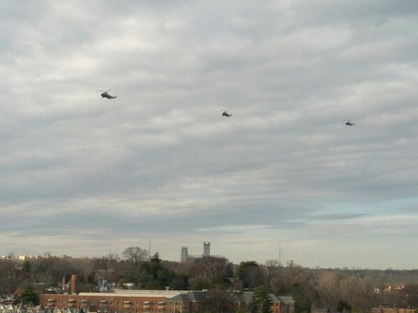 Three presidential helicopter and the national cathedral #frommyapt perhaps evacuating dc before #snowquester? http://pic.twitter.com/dYViv2xVve