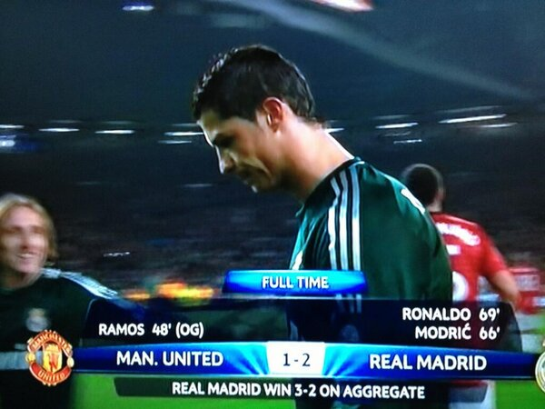 Cristiano Ronaldo explains his non celebration for Real Madrids 2nd goal at Man United