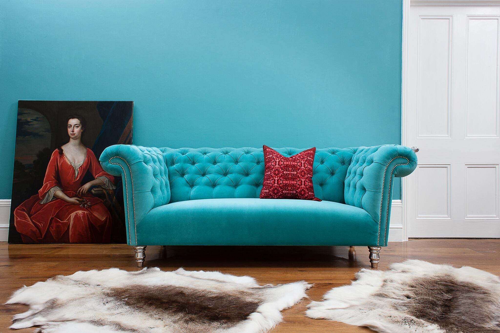 Bespoke Sofa On Twitter Attractive Turquoise Chesterfield Sofa